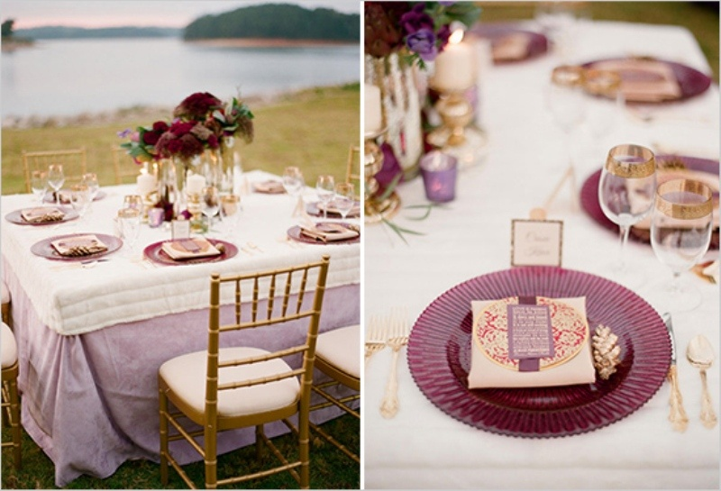 Timeless Ivory Gold Wedding With Scottish Traditions In: Picture Of Stunning Purple Gold And Ivory Wedding Ideas