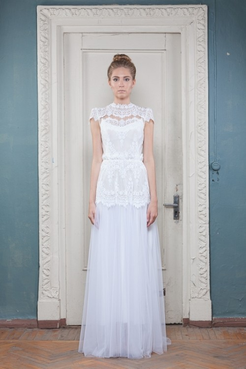 Stunning Vintage Yet Contemporary Wedding Dresses By KATYA KATYA SHEHURINA