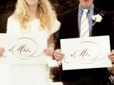 Stylish And Cozy Winter Wedding Inspiration