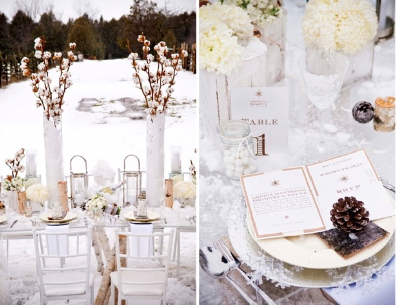 Stylish And Cozy Winter Wedding Inspiration