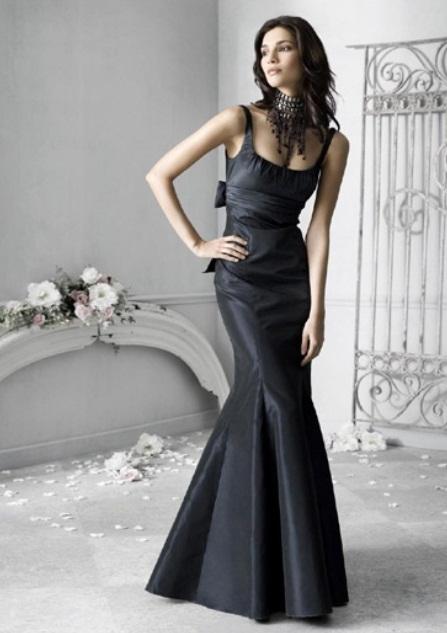 Black Wedding Host Dresses : Stylish and dramatic black wedding dresses weddingomania