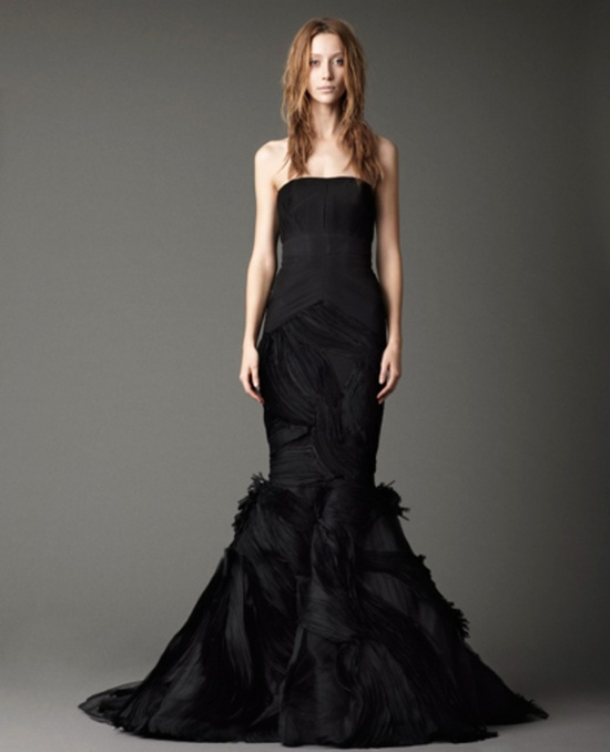 stylish and dramatic black wedding dresses weddingomania