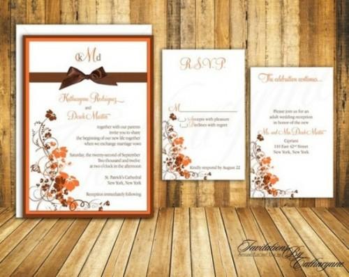 Homemade Fall Wedding Invitations: 46 Stylish And Elegant Fall Wedding Invitations