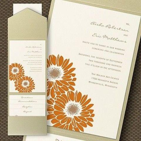 46 Stylish And Elegant Fall Wedding Invitations - Weddingomania