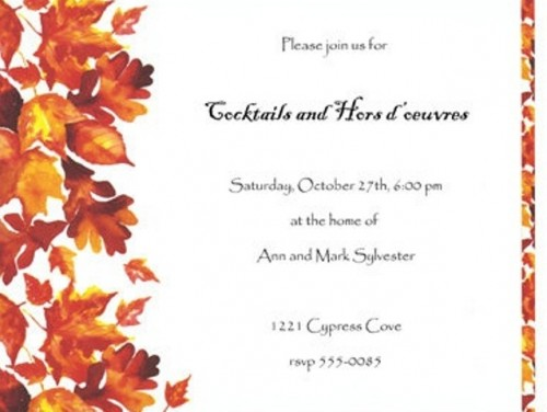 a neutral wedding invitation with bright fall leaves and branches printed to match the wedding season