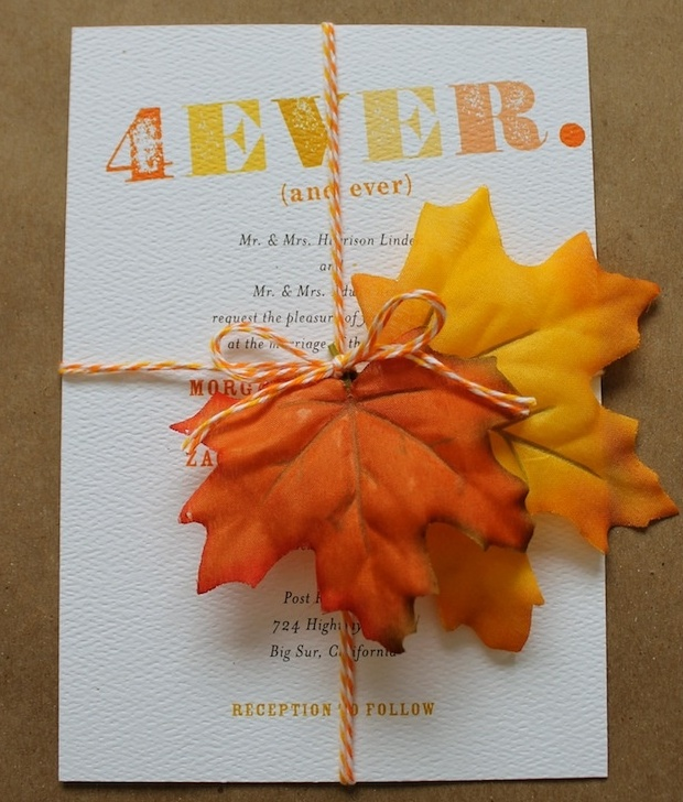 Picture Of Stylish And Elegant Fall Wedding Invitations – Diy Fall Wedding Invitations