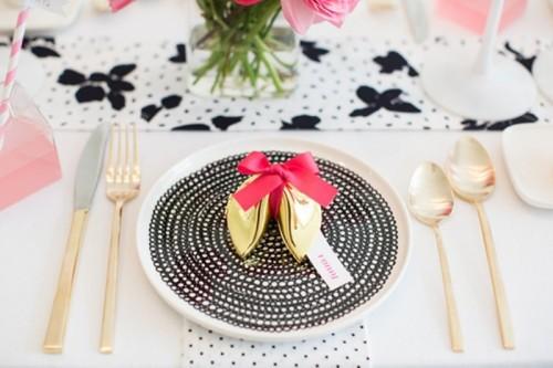 Stylish And Modern Fuchsia Black And White Bridal Shower Ideas