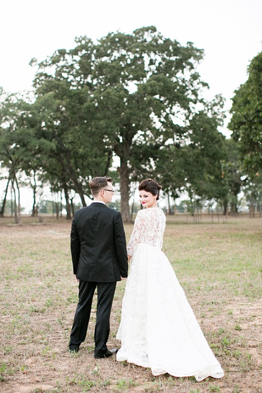 Picture Of stylish and modern safari inspired wedding with a zebra  14