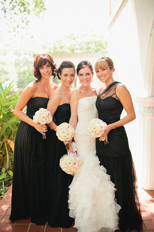 Stylish Black Bridesmaids Dresses