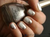 a white and silver glitter curved nail art is a creative manicure not only for a boho bride but for many other brides, too