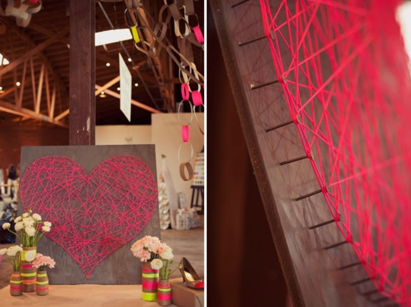 Stylish Diy String Heart For Your Wedding Reception Decor