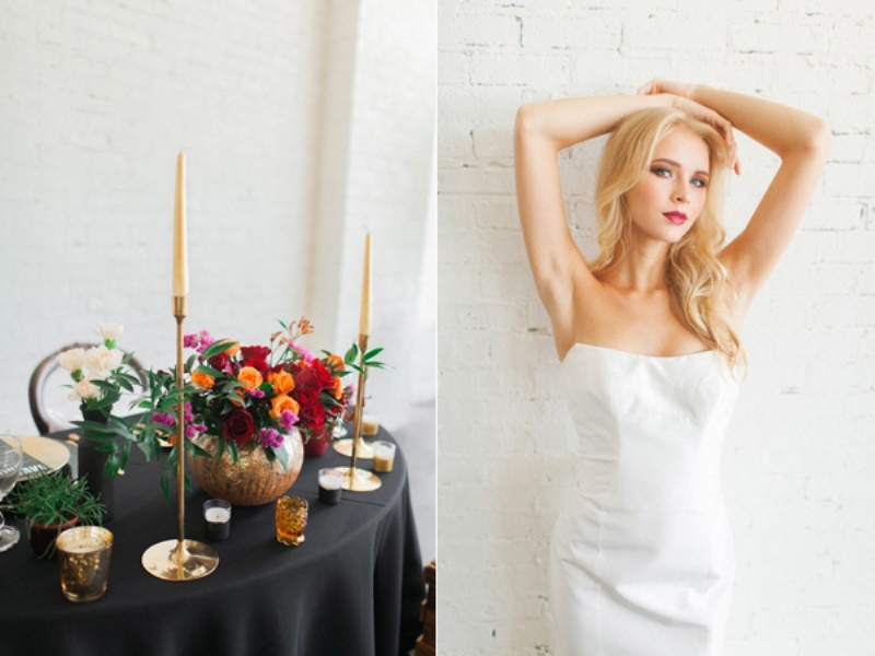 Picture Of stylish industrial maroon wedding inspiration with metallic accents  3