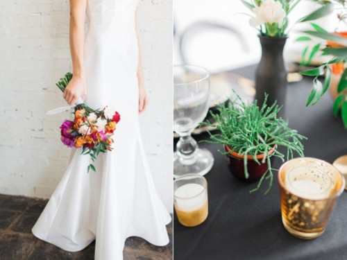 Stylish Industrial Maroon Wedding Inspiration With Metallic Accents