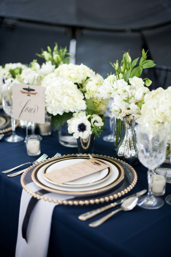 Picture Of stylish navy and white wedding ideas that youll love  24