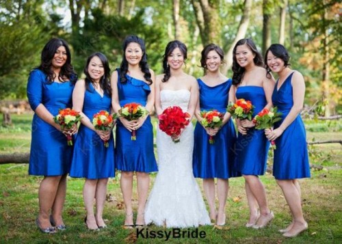 Stylish Short Bridesmaids Dresses