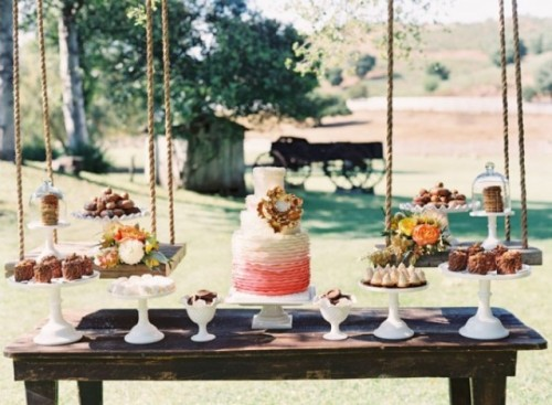 46 Stylish Wedding Dessert Table Ideas