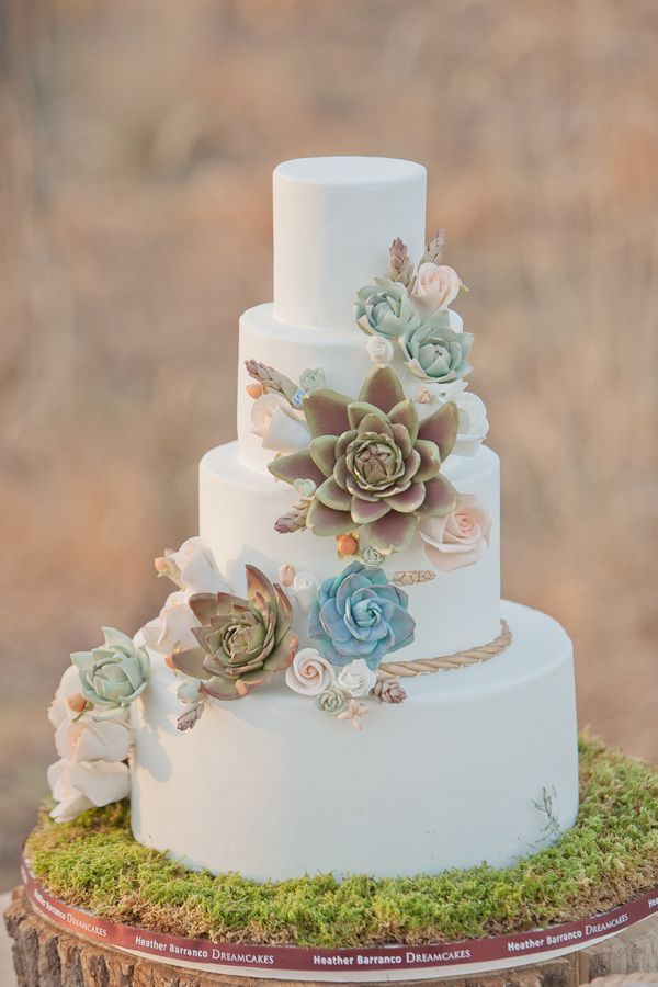 Picture Of Succulent Wedding Cakes 2