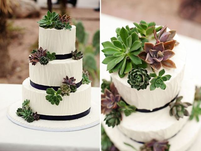 Picture Of succulent wedding cakes  20