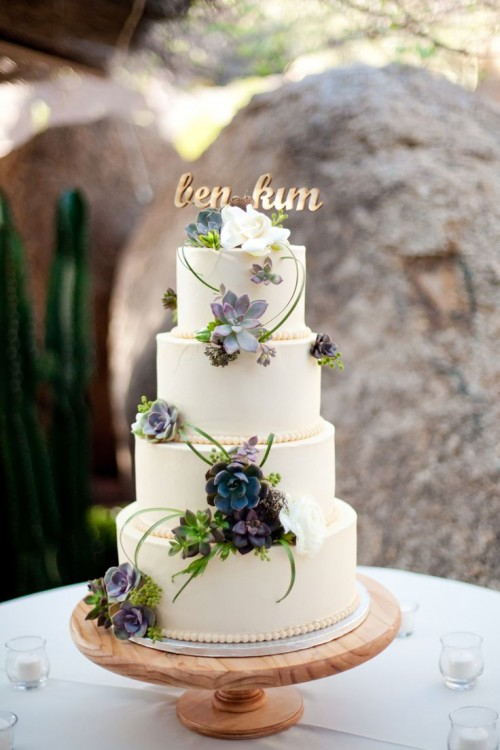 The Hottest 2015 Wedding Trend 42 Succulent Wedding Cakes
