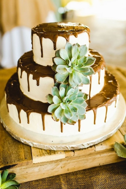 The Hottest 2015 Wedding Trend: 42 Succulent Wedding Cakes