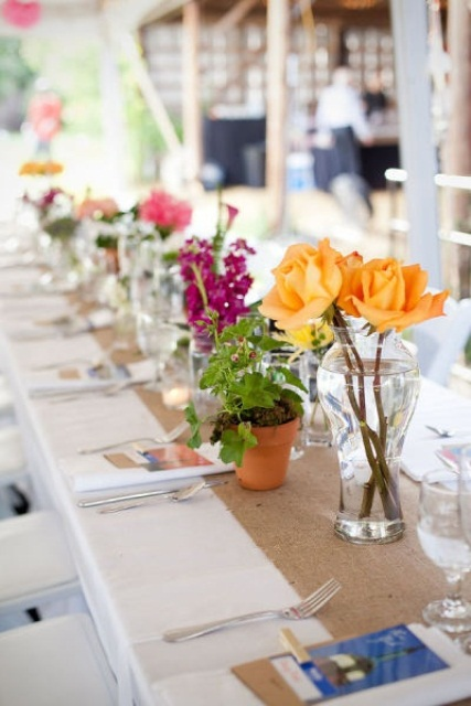 Picture of summer wedding table decor ideas for Table centerpiece ideas for home