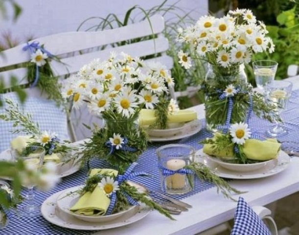Picture of summer wedding table decor ideas - Tavole apparecchiate moderne ...