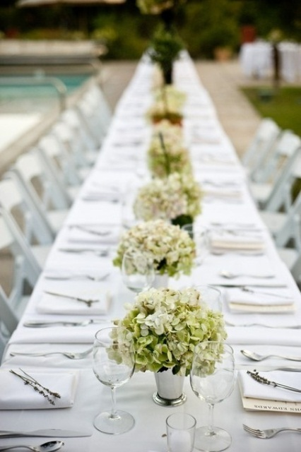 Wedding Centerpiece Ideas For Long Tables : Summer wedding table decor ideas weddingomania