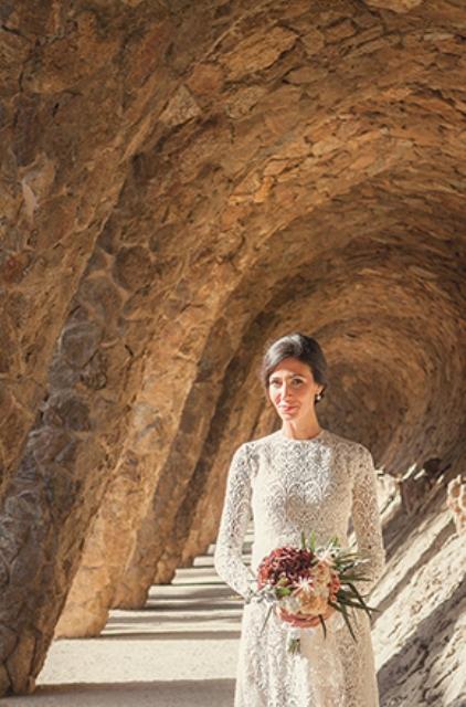 Sunlit Barcelona Destination Wedding Shoot