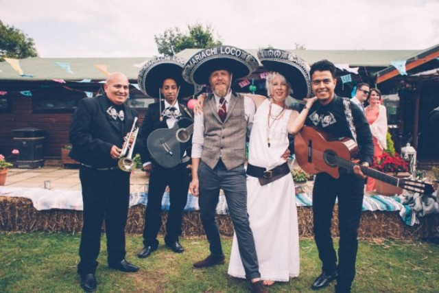 Picture Of super colorful boho mexican wedding  1