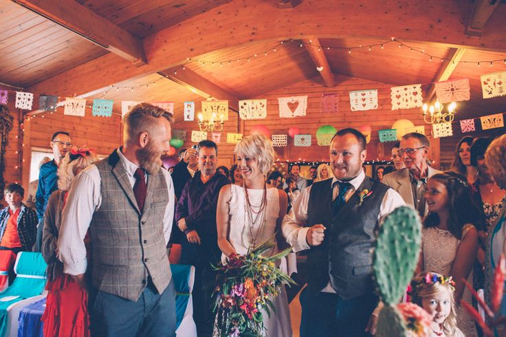 Picture Of super colorful boho mexican wedding  10