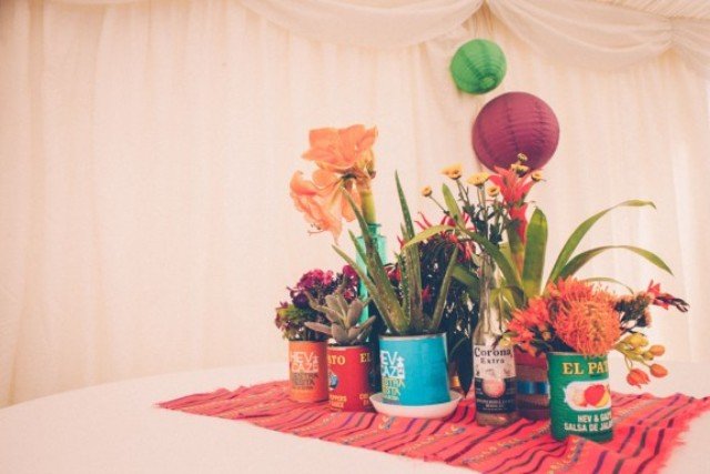 Picture Of super colorful boho mexican wedding  2