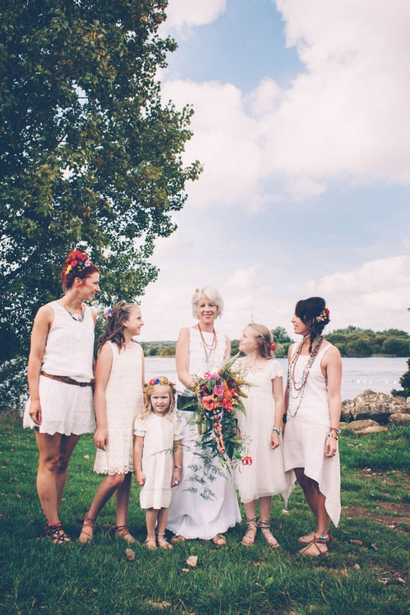 Picture Of super colorful boho mexican wedding  4