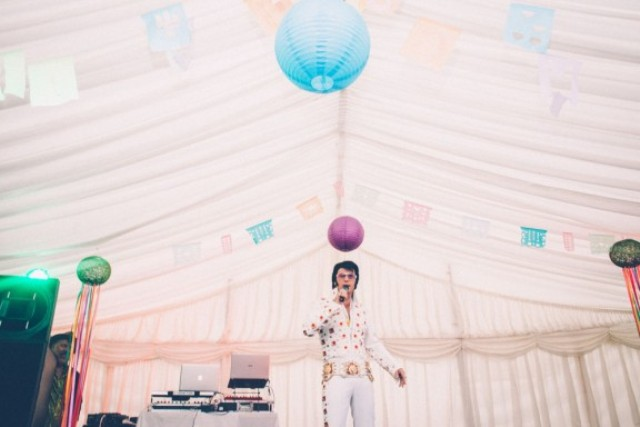 Picture Of super colorful boho mexican wedding  5