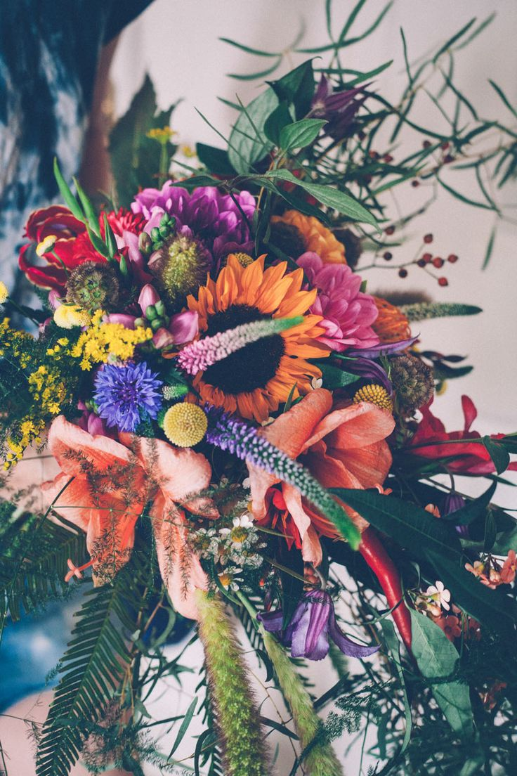 Picture Of super colorful boho mexican wedding  6