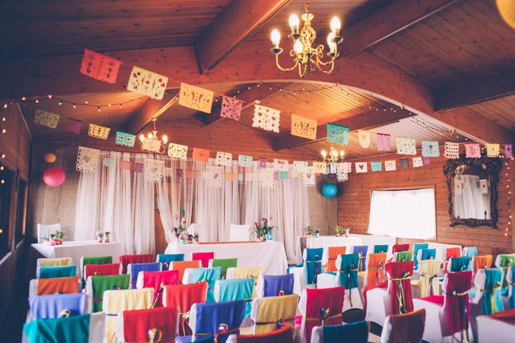 Picture Of super colorful boho mexican wedding  9