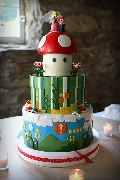 Super Mario Bros Inspired Wedding