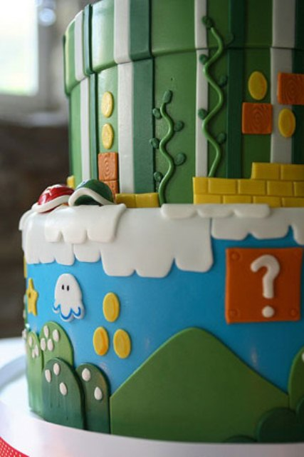 Super Mario Bros Inspired Wedding