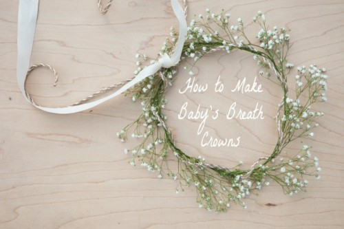 Sweet And Easy DIY Baby's Breath Crown For Your Wedding