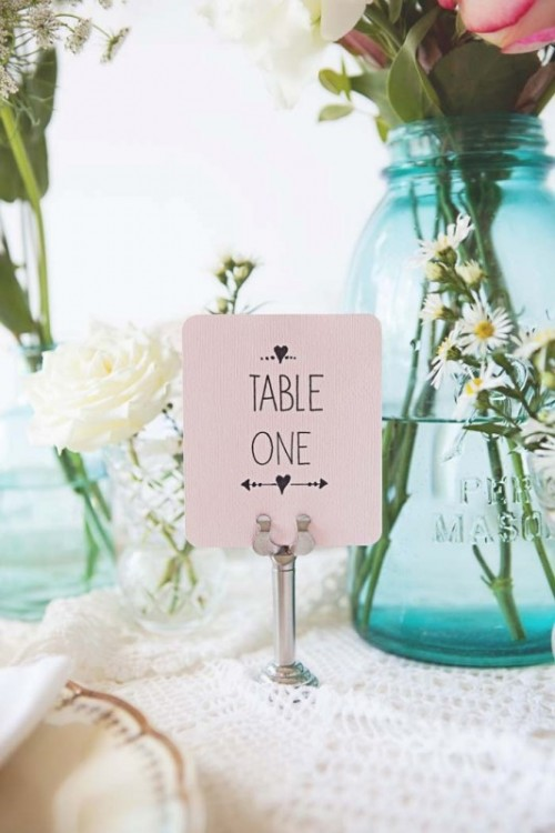 Sweet And Romantic Pastel Vintage Wedding Table Setting - Weddingomania