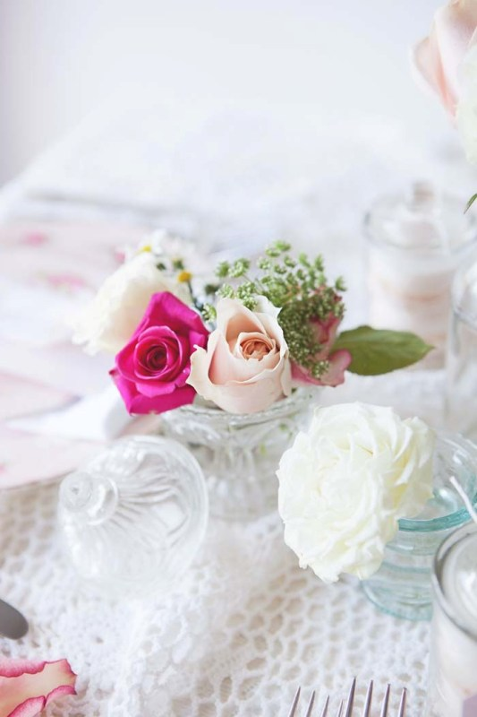 Picture Of sweet and romantic pastel vintage table settings  7