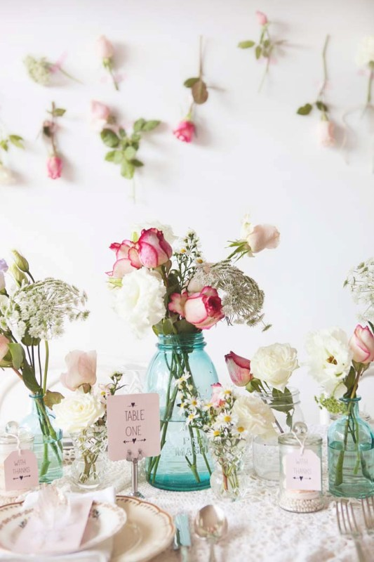 & Picture Of sweet and romantic pastel vintage table settings 8