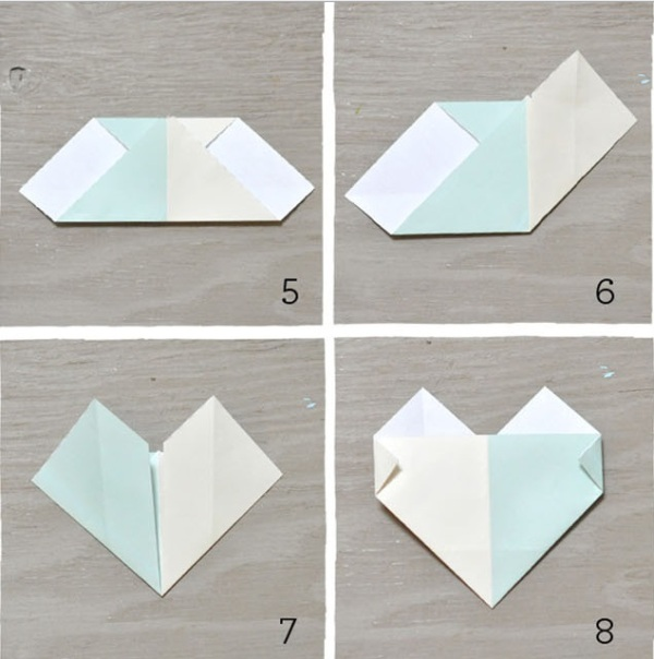 picture of sweet and simple diy origami heart escort cards