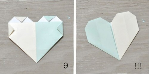 Sweet And Simple Diy Origami Heart Escort Cards