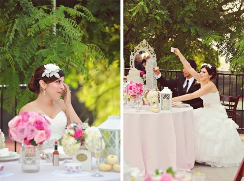 Sweet Blush Pink And Ivory Vintage Wedding Inspiration