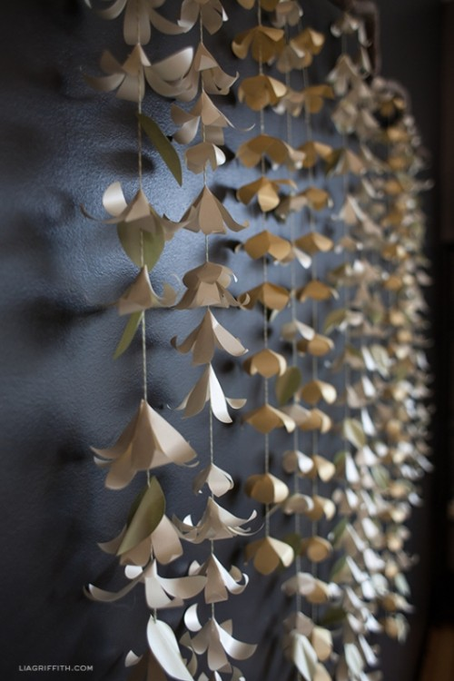 Sweet Diy Cascading Paper Garland As A Perfect Wedding Backdrop