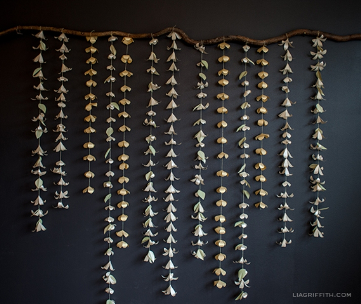 picture of sweet diy cascading paper garland as a perfect