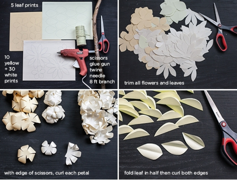 Sweet Diy Cascading Paper Garland As A Perfect Wedding Backdrop