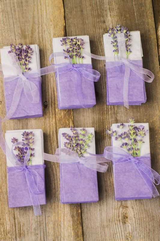 Picture Of sweet lavender diy tears of joy tissues for your emotional guests  1