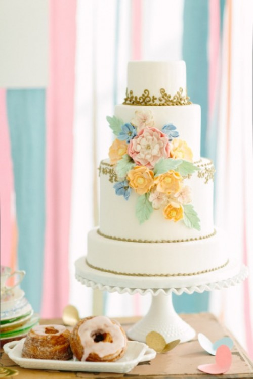 Sweet Pastel Wedding Inspiration With Vintage And Geometric Touches