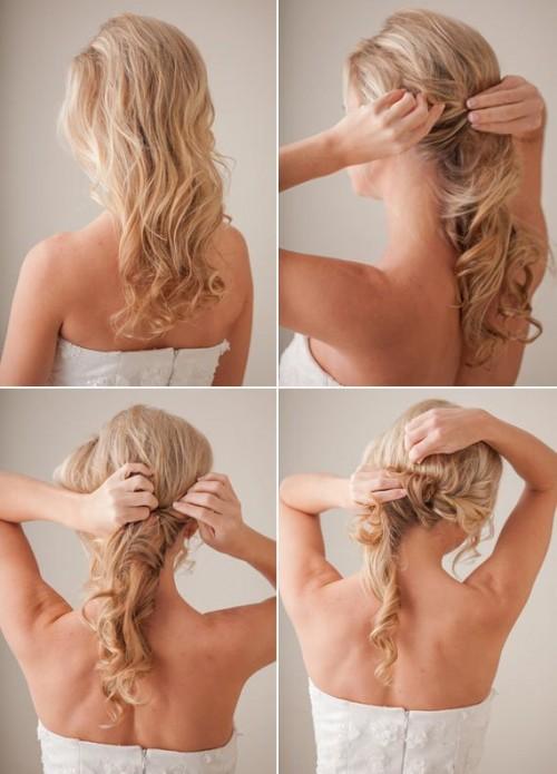 Tender And Feminine Diy Bridal Hairstyle